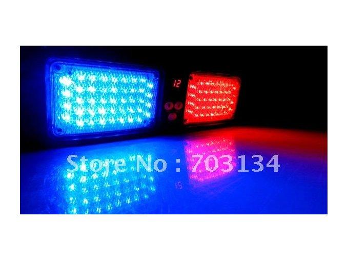 Stroboskop 86 led high power strobe light 12 režimů  červená / modrá