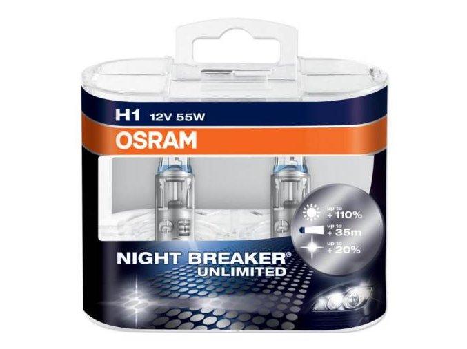 Žárovky H1 OSRAM NIGHT BREAKER UNLIMITED® (sada - 2ks)