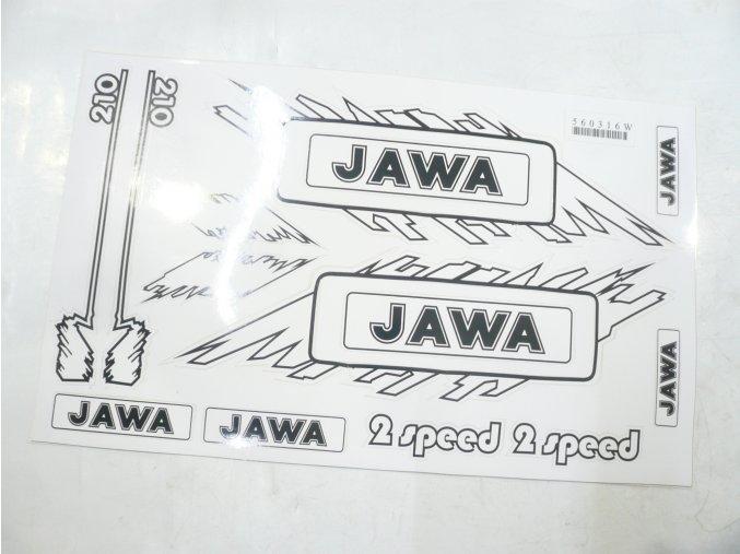 Nálepka JAWA sada