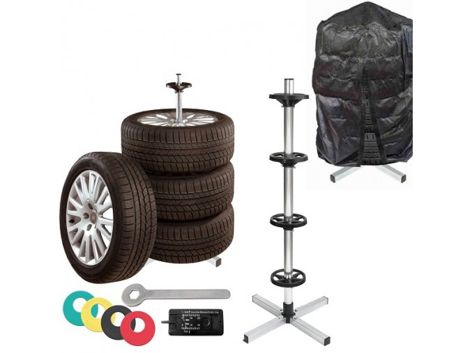 Stojan na pneumatiky ALPIN s příslušenstvím