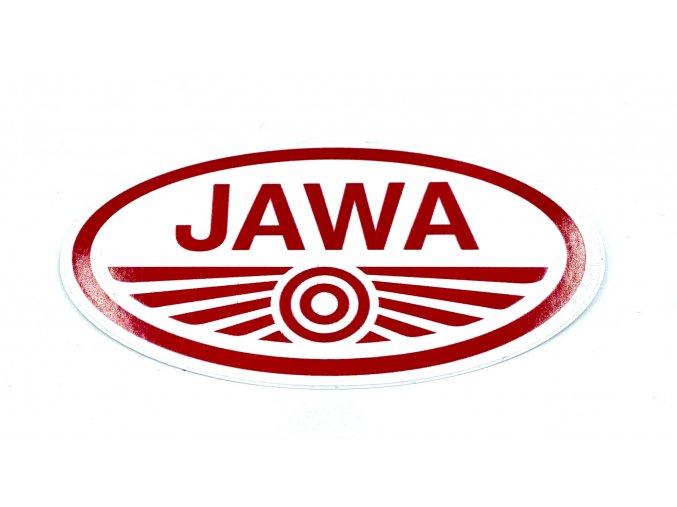 Nálepka JAWA červeno - bílá  10x5cm  CZ