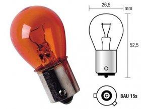 Žárovka 12V 21W oranžová FELICIA  (N10256407, 909522125A, N10256401 )