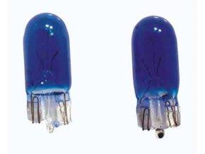 Žárovka 12V 5W celosklo T10  modrá  N.V