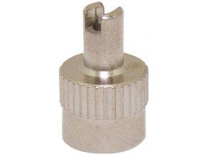 Čepička ventilku kovová s klíčkem