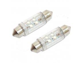 Žárovka 4LED 12V suf.11X39 SV8.5 bílá 2ks