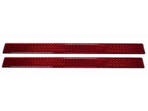Odrazky 3D pružné hranaté 2ks 450x25mm samolepicí červená