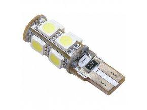 Žárovka 9 SMD LED 12V T10 s rezistorem CAN-BUS ready bílá