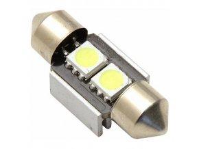 Žárovka 2 SMD LED 12V suf. SV8.5 s rezistorem CAN-BUS ready bílá