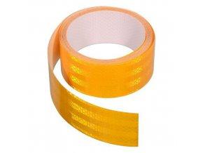 Samolepící páska reflexní 1m x 5cm bílá, červená, žlutá