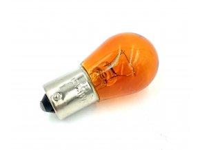 žárovka 12V 21W BA15S FAV oranžová /rovná/