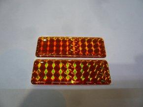Odrazky 3D pružné hranaté 2ks 70x25mm samolepicí