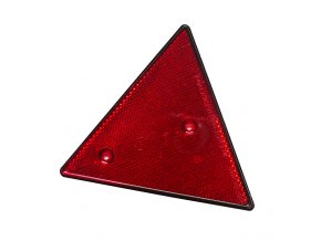 Odrazka trojúhelník 2 díry, červený