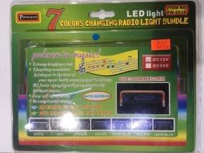 Neon 12V audio senzor modrý