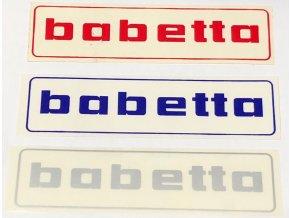 Nálepka BABETTA červená, modrá, šedá