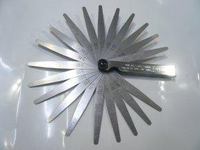Měrky spárové 0,05 - 1,0mm 20ks listů DRAPER UK