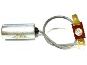 Kondenzátor TESLA - kabel + konektor ( JAWA, ČZ )