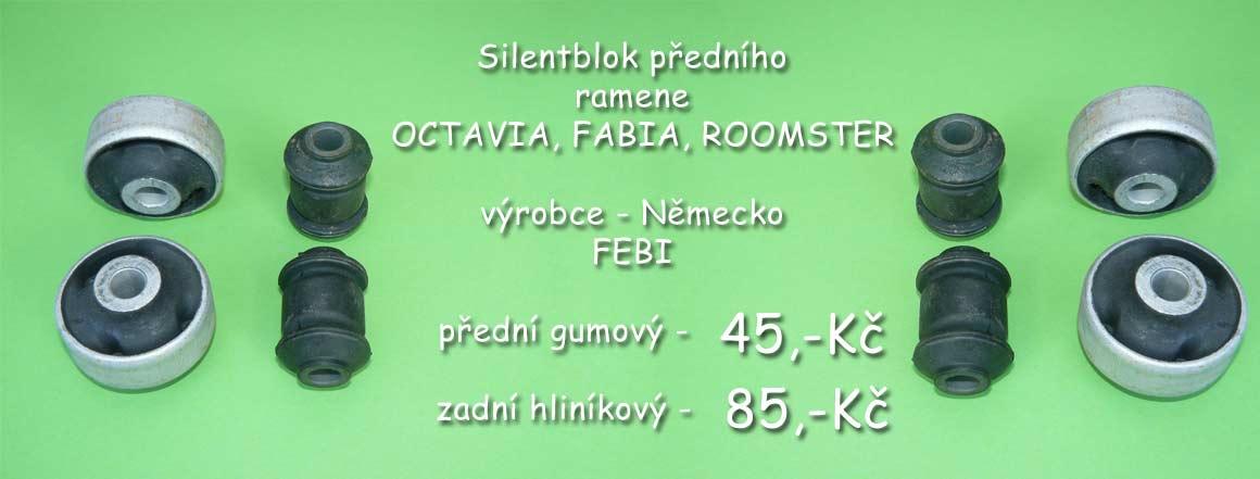 Silentbloky pro přední rameno Škoda Octavia I 1997- všechny modely