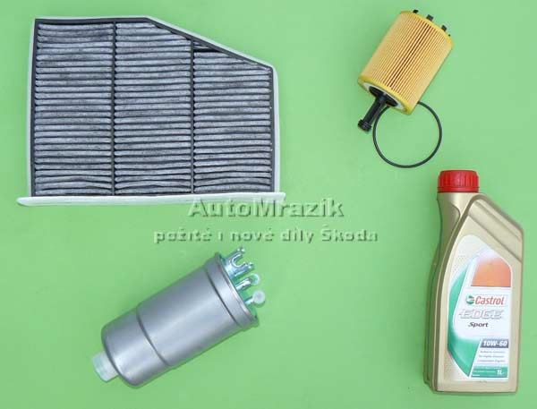 Motor a Převodovka - Filtr, olej Škoda 105,120,130