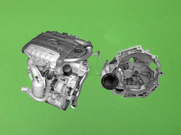 Motor - Převodovka - Filtr - Škoda Superb