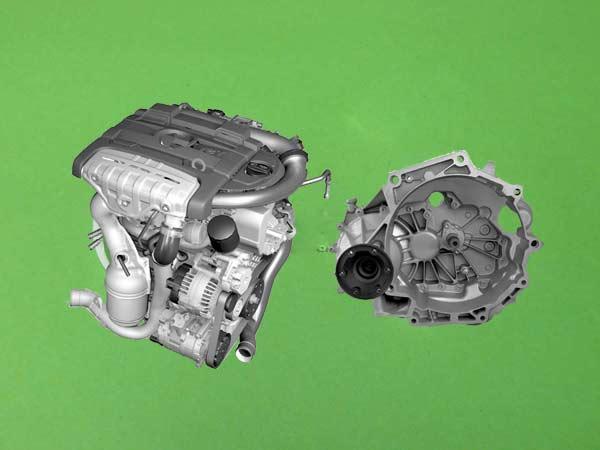 Motor - Převodovka - Filtr - Škoda Octavia