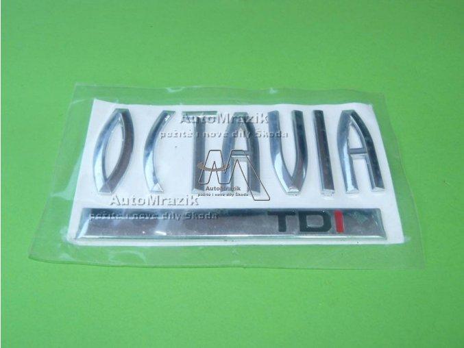 Nápis, označení motorizace Octavia II  TDi