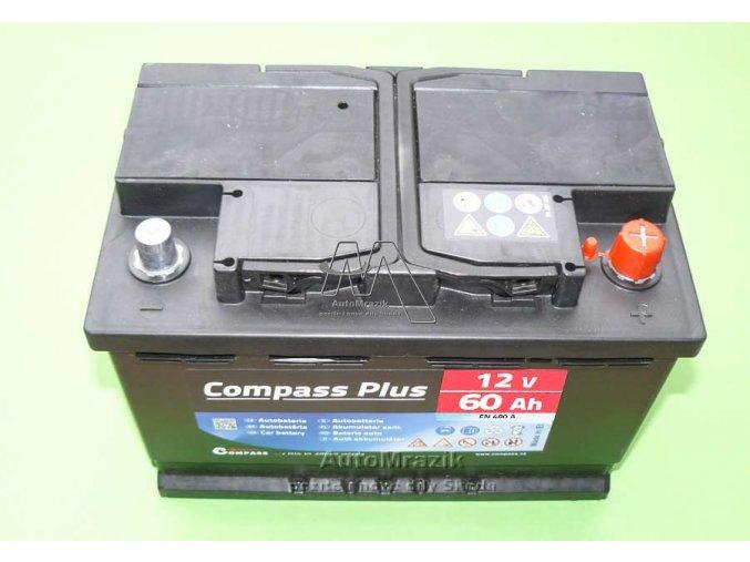 automrazik CPAM27563 Autobaterie 12V 60Ah, EN 480A