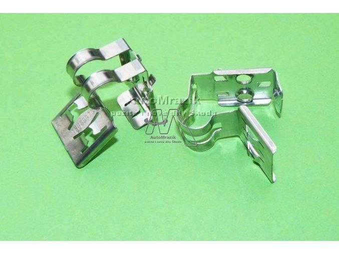 automrazik 1H0609734F Příchytka pro lano ruční brzdy Fabia I, II, III, Roomster, Octavia, Citigo