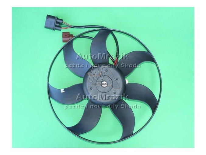 Ventilátor, větrák chladiče Octavia II, Fabia II, Superb II, Yeti 360mm 220W