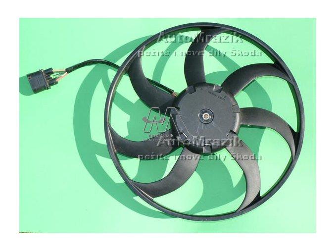 Ventilátor, větrák chladiče Octavia II, Superb II  410mm 400W