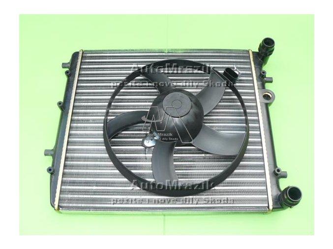 Chladič vody Fabia I, II, III, Roomster, Rapid 430mm + ventilátor