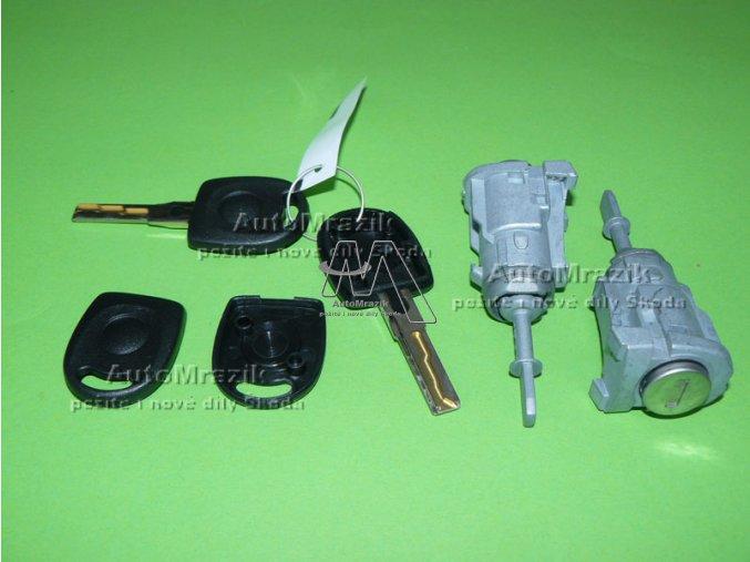 automrazik 6Y0898167E Vložka zámku kompletní sada + klíče Škoda Octavia I, Fabia I pro oboje přední dveře 2