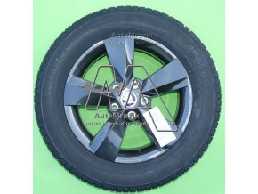 """automrazik 565071497D Alu kolo, hliníkový disk NANUQ 6,0J x 16"""" ET 43 + zimní pneu Continental TS 830 P 21560 R16 99H XL Škoda Karoq"""