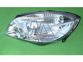 Přední světlo, světlomet, lampa pravá Fabia II, Roomster H7 2011- facelift