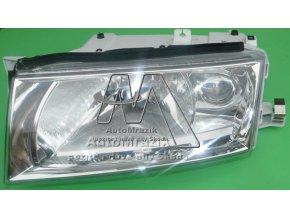 Přední světlo, světlomet, lampa levá Octavia 2000- s mlhovkou + motorek