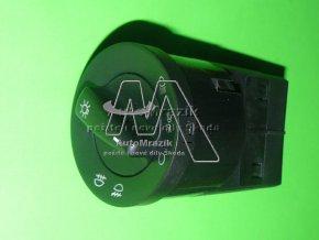 Spínač, ovladač světel Octavia + přední mlhovky zelené