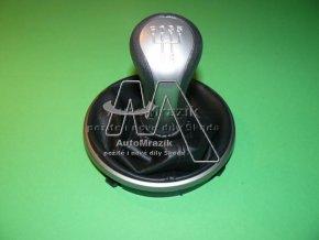 Rukojeť řadící páka + manžeta Fabia II, Roomster stříbrná