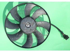 Ventilátor, větrák chladiče Fabia I, II, Roomster velký 380 mm