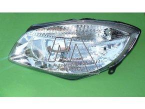 Přední světlo, světlomet, lampa levá Fabia II, Roomster H7