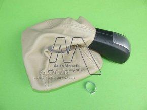 automrazik 1Z0711141BB Rukojeť řadící páka + manžeta béžová Octavia II stříbrná