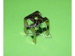 automrazik 1H0609747 Držák, svěrka plechová pro lanovod ruční brzdy Fabia I, II, Roomster, Octavia I, II