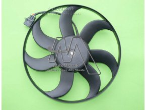 automrazik 6Q0959455AD Ventilátor, větrák chladiče Fabia I, II, III, Roomster, Rapid 390mm