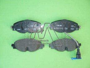 automrazik 8V0698151 Brzdové destičky přední Octavia III, Superb III se signalizací