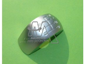 automrazik 1Z0798005 Plaketka pro rukojeť řadící páky Octavia II stříbrná 6 ti kvalt. převodovka