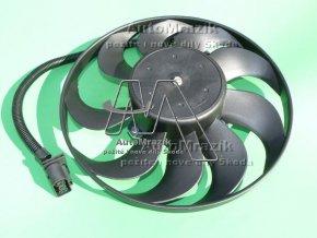 Ventilátor, větrák chladiče Škoda Octavia, Fabia malý 290mm