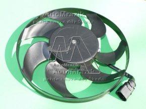 Ventilátor, větrák chladiče Octavia II, Fabia II, Superb II, Yeti 295mm 150W