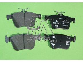 automrazik 3Q0698451D Brzdové destičky zadní Superb III, Kodiaq pro kotouče 300x12mm