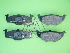 automrazik 6N0698151C Brzdové destičky přední Fabia I, II pro kotouč 239x18 mm 2