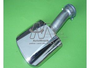 automrazik FDC710003 Oválná chromová koncovka pro výfuk Škoda Fabia II průměr 50mm