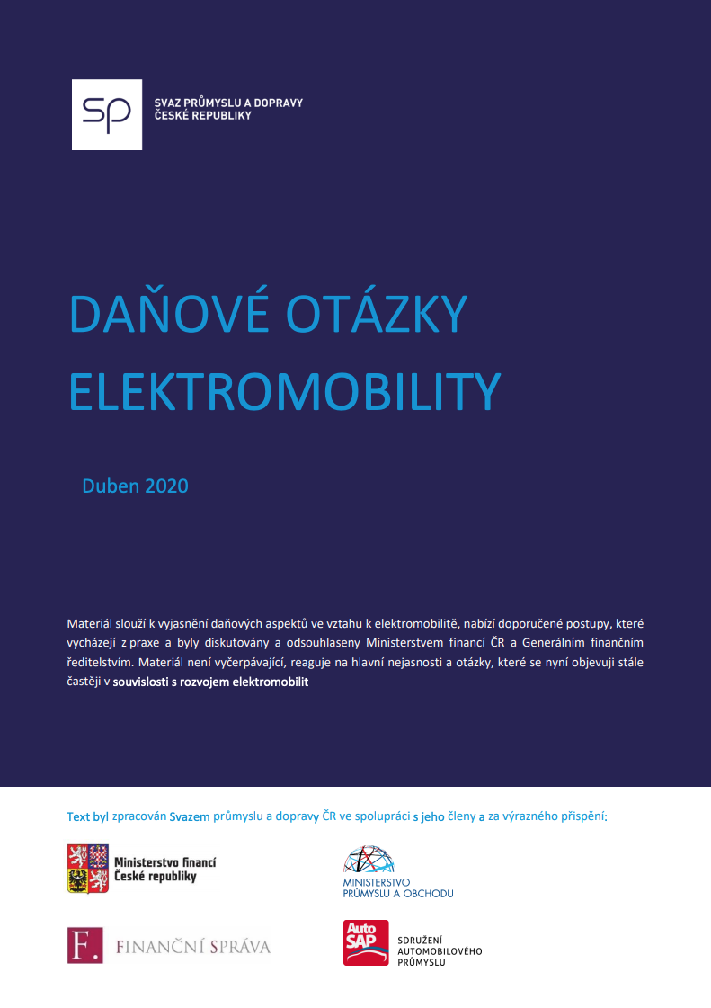 ⚡ Daňové otázky elektromobility