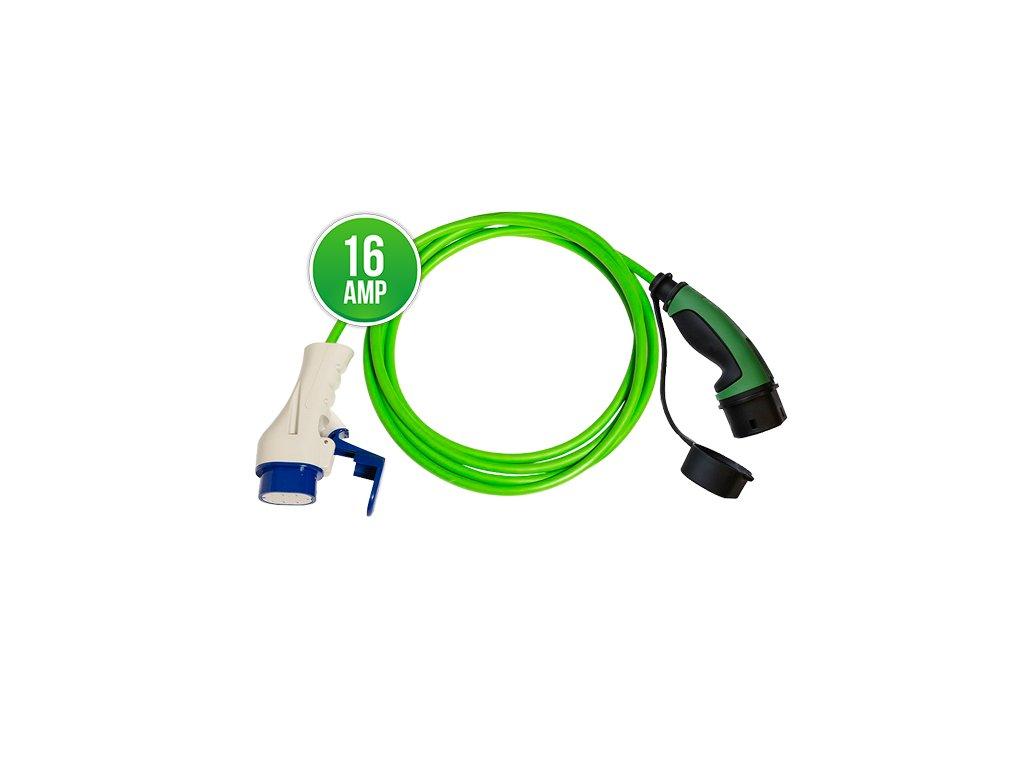 Prémiový nabíjecí kabel Typ 3 - Typ 2 16A | 1 fáze | do 3,7 kW